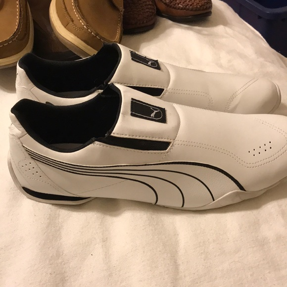 58a92295b5c Never worn white puma slip ones. M 5a6de59f00450f488e301c09. Other Shoes ...